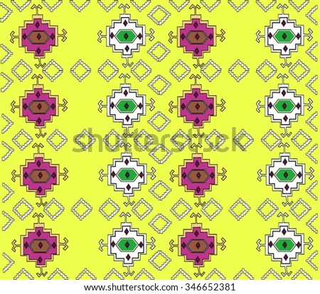 Vector Romania Traditional Old Pattern Isolated - stock vector