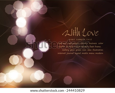 vector romantic background with blur - stock vector