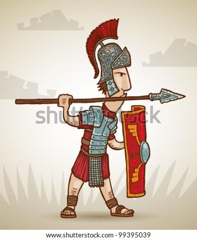 vector Rome warrior 1 - stock vector