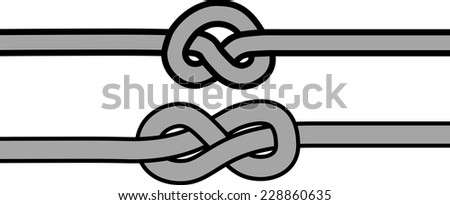 vector rope knot symbols  - stock vector
