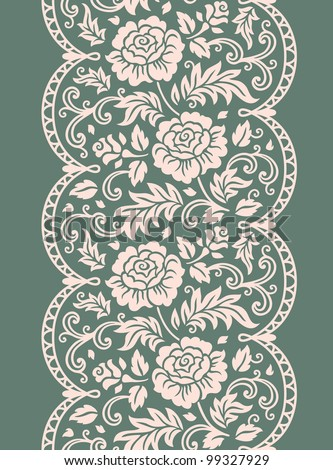 vector rose lace - stock vector