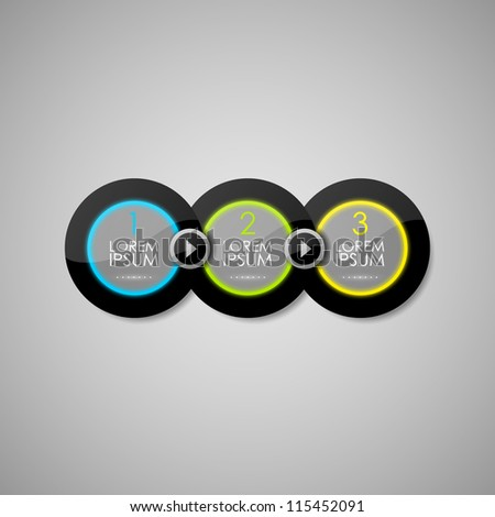 Vector round glossy panels - stock vector
