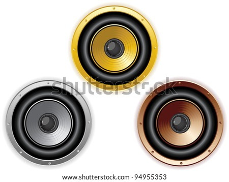 Vector - Round Isolated Sound Speaker. Set of 3 colors
