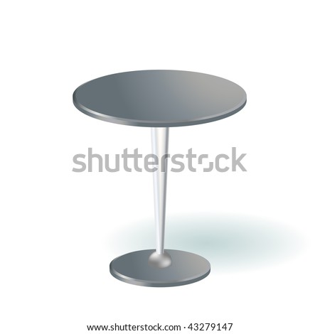 Vector round table - stock vector