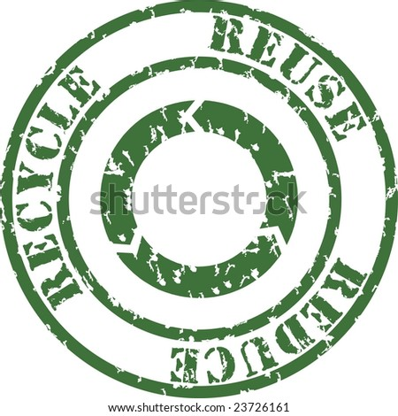 vector rubber stamp recycle - stock vector