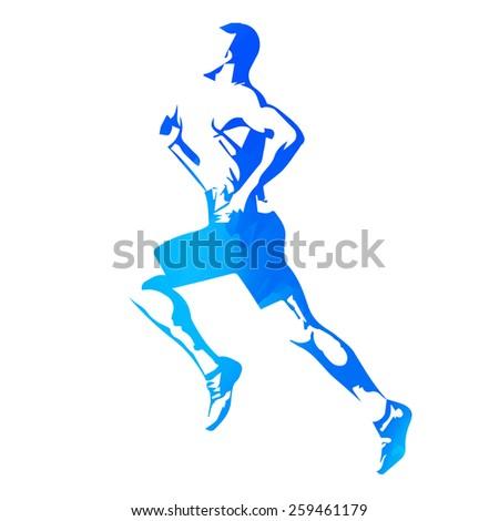 Vector runner - stock vector