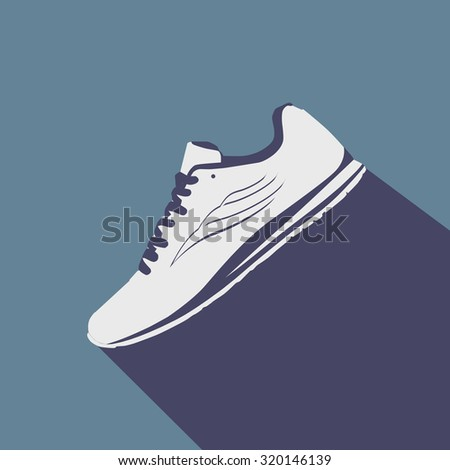 Vector running shoes - sneakers - stock vector