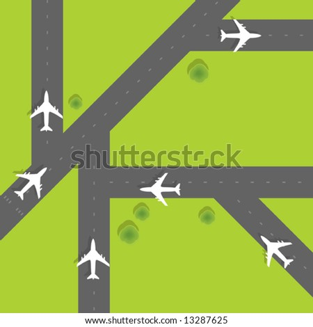 Vector Runways - stock vector