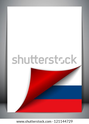 Vector - Russia Country Flag Turning Page