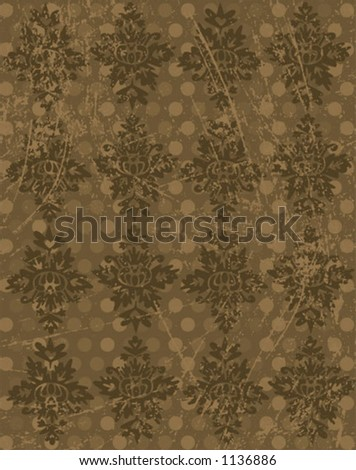 vector rustic looking wallpaper or background. Change the colors or take off the scratches for a different look