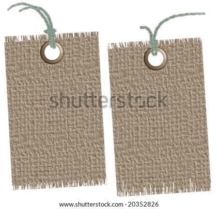 Vector: sackcloth labels