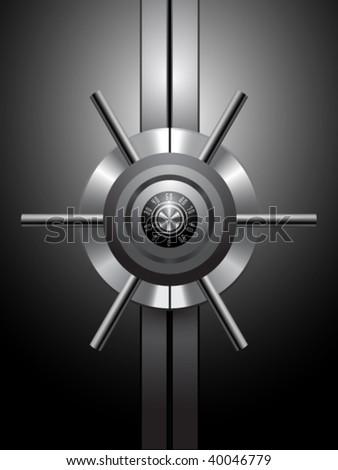 vector safe - stock vector