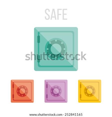 Vector safe icons. - stock vector