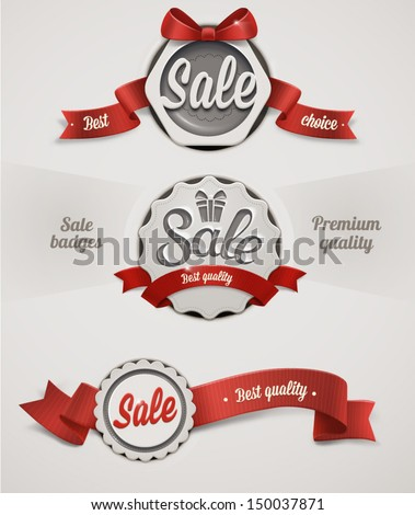 Vector sale badges - stock vector