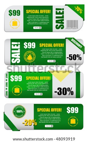 vector sale banners set - stock vector