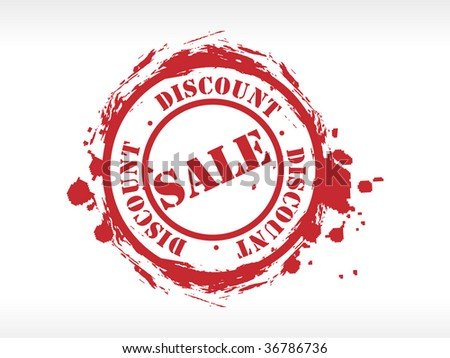 Vector sale grunge rubber stamp - stock vector