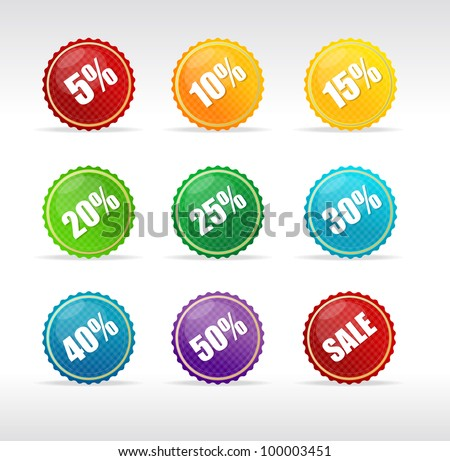 Vector sale labels - stock vector