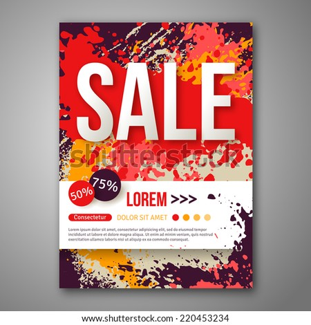 Vector sale poster template watercolor paint stock vector 220453234 vector sale poster template with watercolor paint splash abstract background for business documents flyers flashek Images