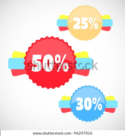Vector sale stickers and labels - stock vector