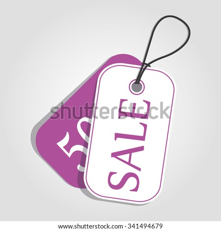 Vector. Sale tag color pure. Format eps10. - stock vector