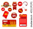 vector sale tags and labels set - stock vector