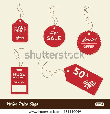 Vector Sale Tags / Labels - stock vector