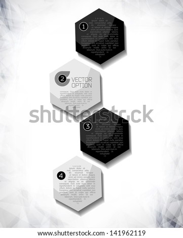 Vector Sample background for options. Design modern template can be used for brochure, banners or website layout vector. - stock vector