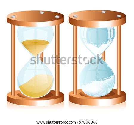 Vector sand clock (hourglass)