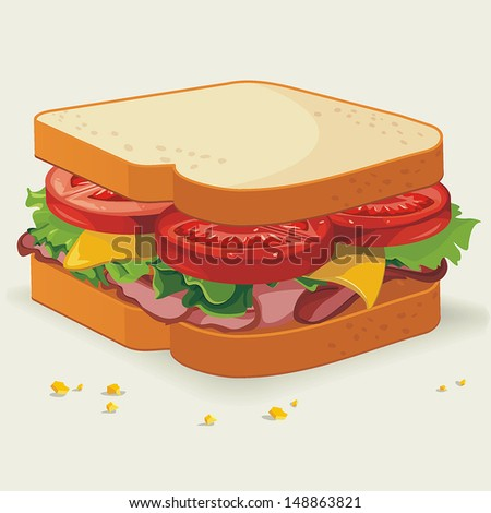 Vector Sandwich illustration - stock vector