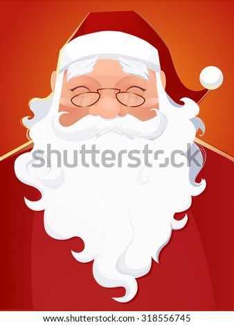 Vector Santa Claus Portrait - stock vector