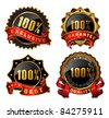 vector satisfaction labels - stock vector