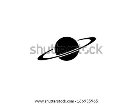 Vector Saturn Icon Symbol Set - stock vector