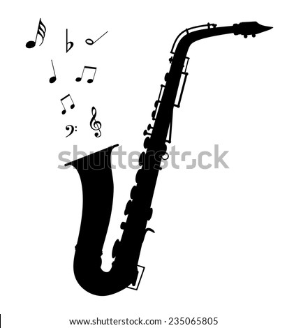 Vector saxophone - Illustration EPS-10 - stock vector