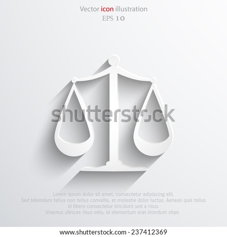 Vector scales balance web icon. Eps 10. - stock vector