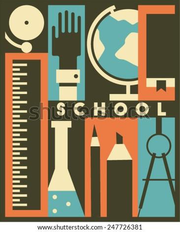 Vector school background - stock vector