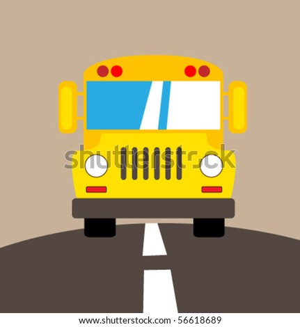 Vector school bus. - stock vector
