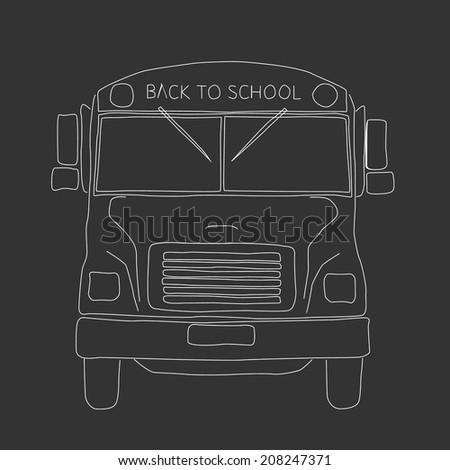 Vector school bus - Back to school - stock vector