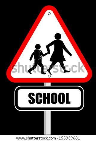 Vector School Sign - stock vector