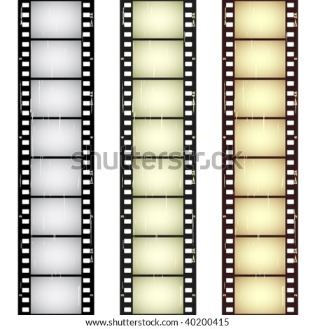 vector scratched seamless film strips - stock vector