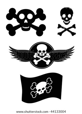 vector scull design elements - stock vector
