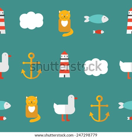 Vector sea abstract pattern. - stock vector