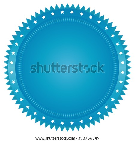 Vector seal on white background - stock vector