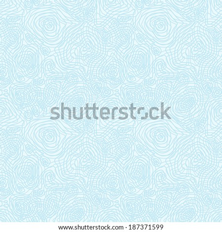 Vector seamless abstract blue pattern with concentric curved circles - eps8 - stock vector