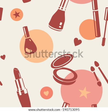 vector seamless abstract cosmetics  tile pattern