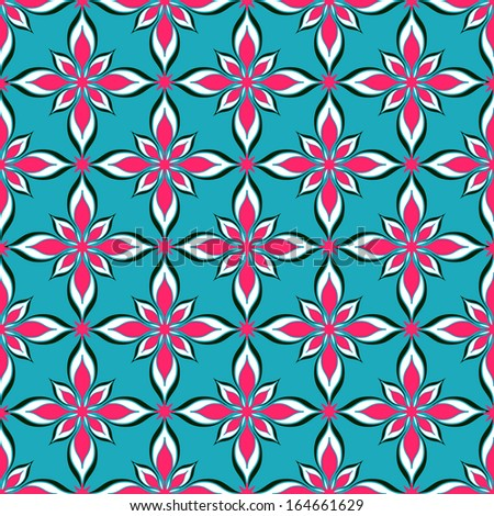 vector seamless abstract floral illustration