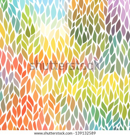 vector seamless abstract hand-drawn pattern - stock vector