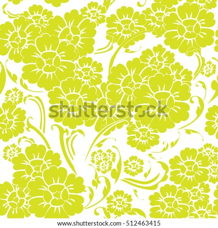Vector seamless abstract of flower line art graphic style pattern. use as wallpaper, backdrop and background