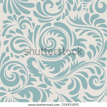 Vector seamless abstract pattern. Vintage style.  - stock vector