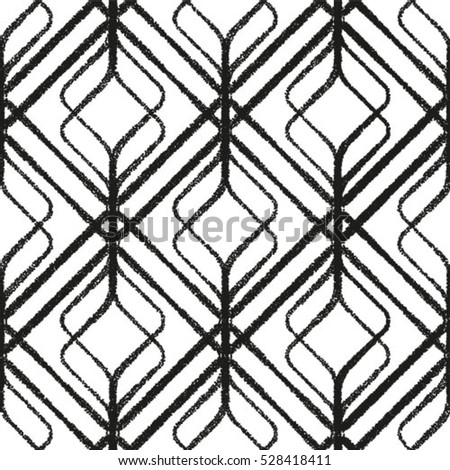 Vector seamless abstract pattern, waves.