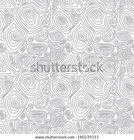 Vector seamless abstract simple monochrome pattern with concentric curved circles - eps8 - stock vector